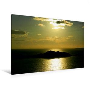 Premium Textil-Leinwand 120 cm x 80 cm quer Sonnenuntergang in A