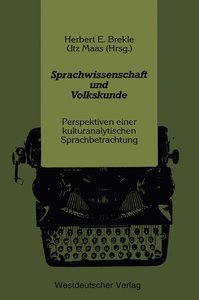 Sprachwissenschaft und Volkskunde