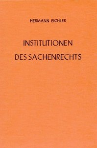 Institutionen des Sachenrechts I