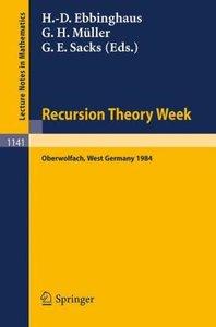 Recursion Theory Week