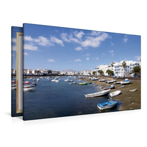 Premium Textil-Leinwand 120 cm x 80 cm quer Lanzarote - Arrecife