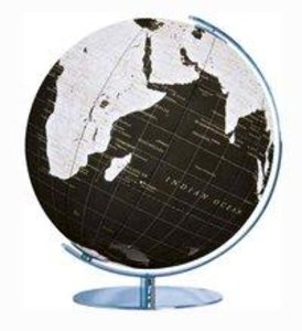 713485 ArtLine Globus ohne Swarovski, schwarz