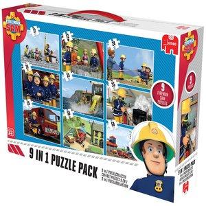 Fireman Sam 9in1 Puzzle Mix - 2x12/2x24/3x35/2x50 Teile
