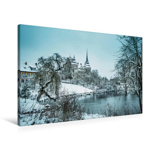 Premium Textil-Leinwand 90 cm x 60 cm quer Schloss Ahorn bei Cob