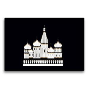 Premium Textil-Leinwand 75 cm x 50 cm quer Basilius Kathedrale,