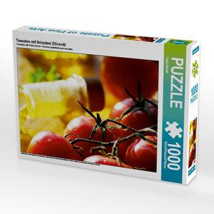 Tomaten mit feinstem Olivenöl 1000 Teile Puzzle quer
