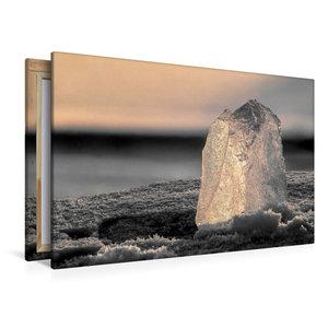 Premium Textil-Leinwand 120 cm x 80 cm quer Skulptur aus Eis