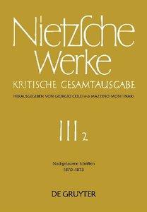Werke, Band 2, Nachgelassene Schriften 1870 - 1873