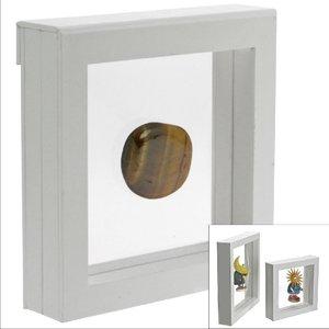 3-D-Schweberahmen weiß, 13 cm