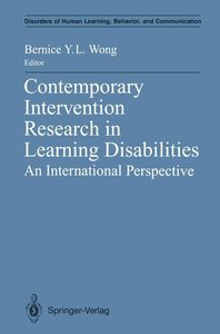 Contemporary Intervention Research in Learning Disabilities