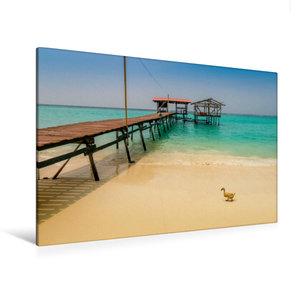 Premium Textil-Leinwand 120 cm x 80 cm quer Mantanani Island - S