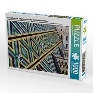 CALVENDO Puzzle Wien. Blick vom Stephansdom über die Dächer von