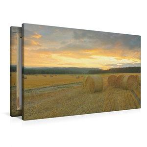 Premium Textil-Leinwand 90 cm x 60 cm quer Harmonie - Strohballe