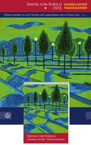 Sonne und Schild 2015 Abreißkalender mit Rückwand