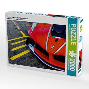 Ferrari Fxx auf der Rennstrecke 2000 Teile Puzzle quer