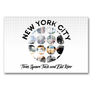 Premium Textil-Leinwand 90 cm x 60 cm quer Graphic-Art NEW YORK