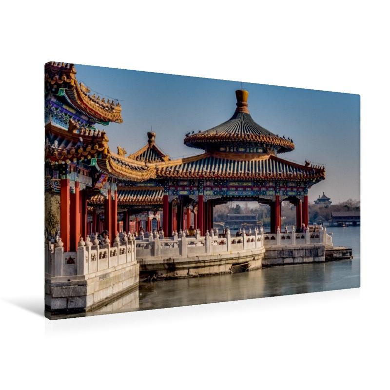 Premium Textil-Leinwand 90 cm x 60 cm quer Fünf Drachen Tempel i - zum Schließen ins Bild klicken