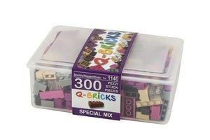 Bausteine Mix Box 300 Teile in Spezial Farben in praktischer Auf