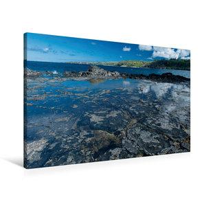 Premium Textil-Leinwand 90 cm x 60 cm quer An der Kahili Bay