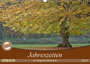 Jahreszeiten im Tiergarten Hannover (Wandkalender 2019 DIN A3 qu