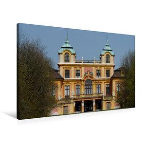 Premium Textil-Leinwand 90 cm x 60 cm quer Favorite-Schloss Ludw