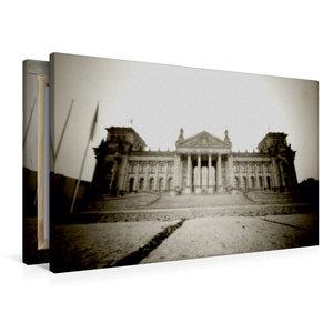 Premium Textil-Leinwand 90 cm x 60 cm quer Reichstag