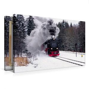 Premium Textil-Leinwand 75 cm x 50 cm quer Brockenbahn