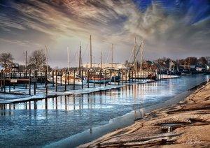 Friesland - am Vareler Hafen (Posterbuch DIN A4 quer)