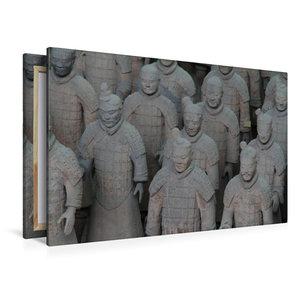 Premium Textil-Leinwand 120 cm x 80 cm quer Die Terrakotta Armee