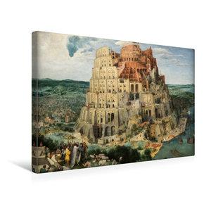 Premium Textil-Leinwand 45 cm x 30 cm quer Turmbau zu Babel - 15