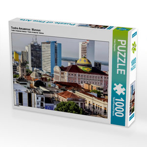 CALVENDO Puzzle Teatro Amazonas Manaus 1000 Teile Lege-Größe 64