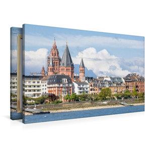Premium Textil-Leinwand 90 cm x 60 cm quer Mainz am Rhein