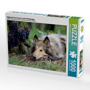 Highland Hawk Fame in den Weinbergen 1000 Teile Puzzle quer