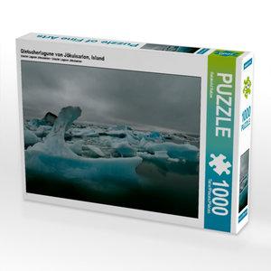 Gletscherlagune von Jökulsarlon, Island 1000 Teile Puzzle quer