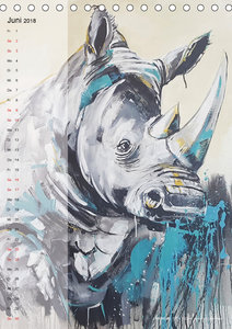 KUNSTKALENDER ONE OF THE BIG FIVE (Tischkalender 2018 DIN A5 hoc