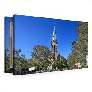 Premium Textil-Leinwand 75 cm x 50 cm quer Johanneskirche