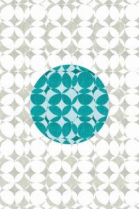 Premium Textil-Leinwand 30 cm x 45 cm hoch Punkte, Türkis und We