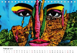 Dschungel Gesichter (Tischkalender 2017 DIN A5 quer)