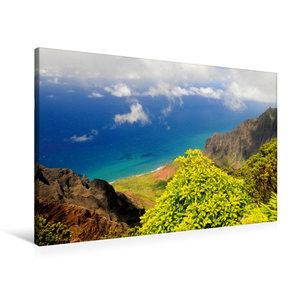 Premium Textil-Leinwand 90 cm x 60 cm quer Na Pali Coast