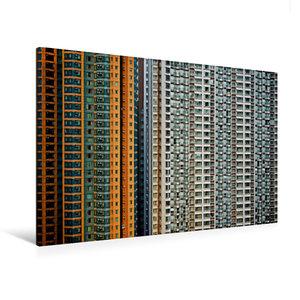 Premium Textil-Leinwand 120 cm x 80 cm quer Harbour Plaza