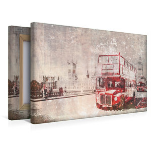 Premium Textil-Leinwand 45 cm x 30 cm quer City-Art LONDON Rote