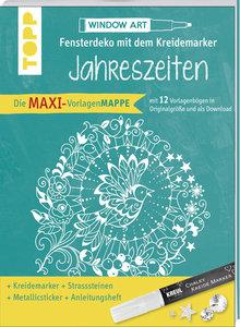 Maxi-Vorlagenmappe Fensterdeko mit dem Kreidemarker - Jahreszeit