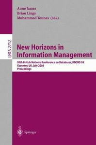 New Horizons in Information Management