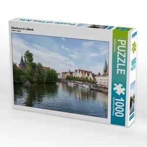 CALVENDO Puzzle Obertrave in Lübeck 1000 Teile Lege-Größe 64 x 4
