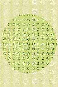 Premium Textil-Leinwand 60 cm x 90 cm hoch Punkte, Grün und Weiß