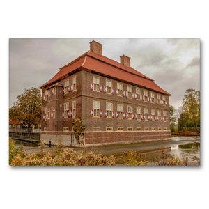 Premium Textil-Leinwand 90 cm x 60 cm quer Schloss Oberwerries i