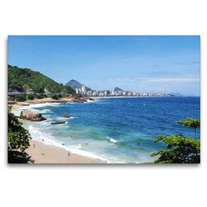Premium Textil-Leinwand 120 cm x 80 cm quer Rio de Janeiro\'s Ge