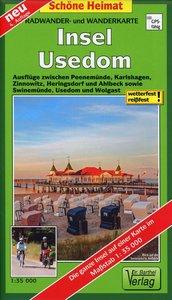 Insel Usedom 1 : 35 000 Radwander- und Wanderkarte