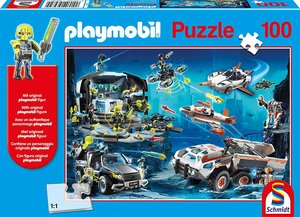 Schmidt Puzzle 56272 - Playmobil, Top Agents, Puzzle, 100Teile