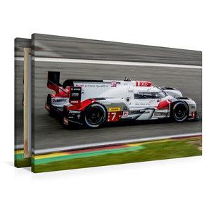 Premium Textil-Leinwand 90 cm x 60 cm quer Audi R18 e-tron quatt